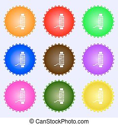 Thread Icon sign. Big set of colorful, diverse, high-quality...