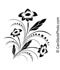 Background with a vector flower pat