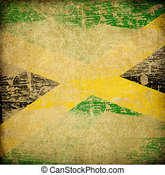 Jamaica grunge flag background.