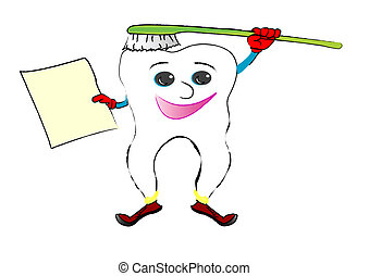 Cheerful tooth