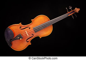 Violin viola Isolated on Black - A violin viola isolated...