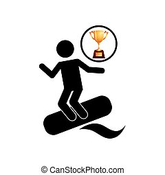 extreme sport avatar water skiing vector illustration eps 10