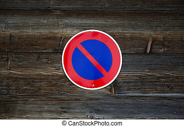 No Parking sign - Close view of the No Parking sign