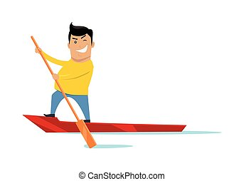 Sealing on Boat Concept Vector Illustration - Sealing on...