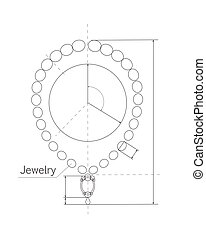 Jewerly Production Sketch of Brilliant Necklace. - Jewerly...