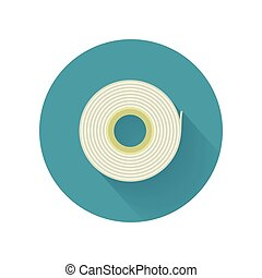Scotch Tape Vector Icon in Flat Style Design - Scotch tape...