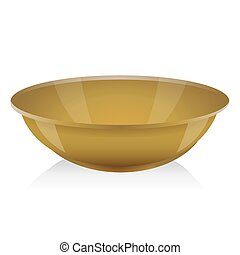 Ocher bowl vector isolated