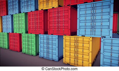 """Stack of Cargo Containers"" - ""Stack of Cargo Containers at..."
