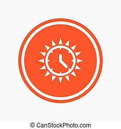 Summer time icon. Sunny day. Daylight saving. - Summer time...
