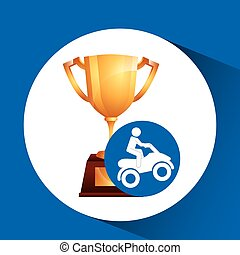 extreme sport avatar quad bike design vector illustration...