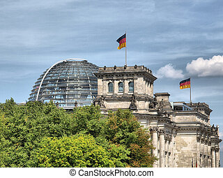 Reichstag, Berlin - Reichstag (The German Parliament) in...