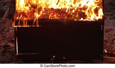 Piano on fire musical instrument - Piano on fire burning...