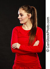 young fitness woman girl in sportwear