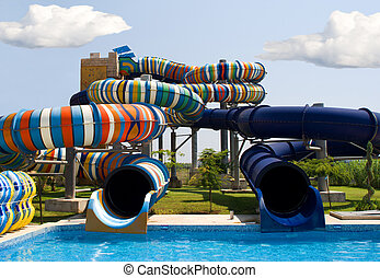 Aqua park in Nesebar, Bulgaria - Aqua park in the open air....