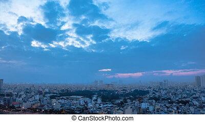 Dawn in Saigon City. Vietnam. - Dawn in Saigon City. Vietnam