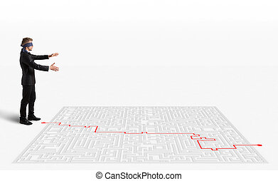 3D Rendering solution for the maze - 3D Rendering Hand draws...