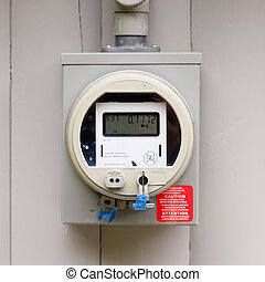 Residential smart grid digital power supply meter - Modern...