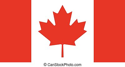 Official vector flag of Canada .
