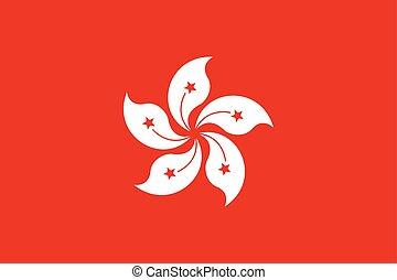 Official vector flag of Hong Kong . Hong Kong Special...