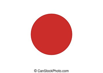 Official vector flag of Japan .