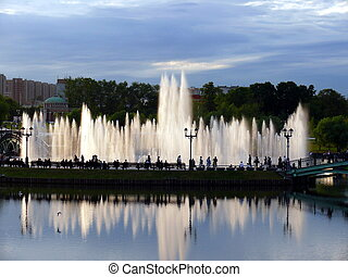 Pond in Tsaritsyno park - Moscow
