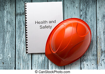 Health and safety register with helmet