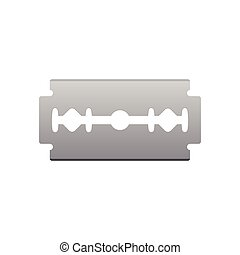 Razor blade isolated vector illustration