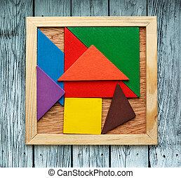 Pentamino puzzle for children in magic square
