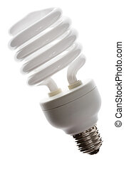 Compact Fluorescent Lightbulb clsoe up