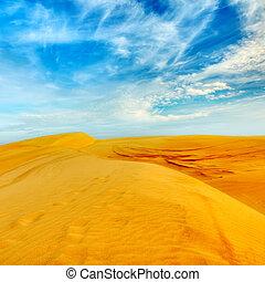 Desert - Sandy desert at day time. Vietnam. Mui ne