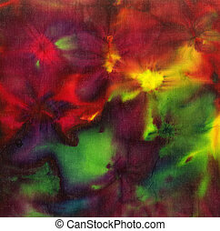 Dye batik fabric for background and texture