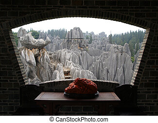 Stone forest national park in  China