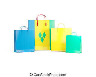 Flag of saint vincent and the grenadines on shopping bags....