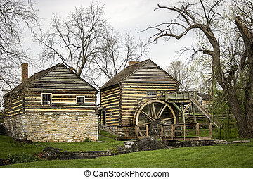 Old Grist Mill - An old grist mill beside a small stream.