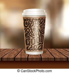 Coffee To Go Cup Composition - Realistic coffee to go cup...