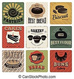 Bakery Retro Style Cards