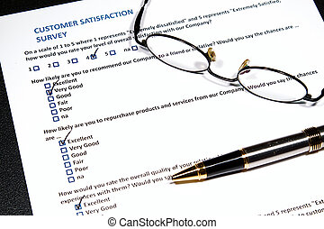 Customer Survey - A survey questionnaire for customer...