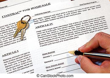 Contract of Home Sale - Contract for the sale of a New Home...