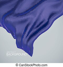 Blue indigo silk fabric. Vector illustration of blue indigo...