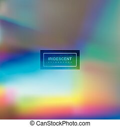 Fluid iridescent multicolored background. Vector...