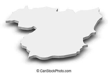 Map - Vila Real (Portugal) - 3D-Illustration - Map of Vila...