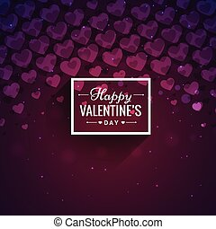 purple hearts valentines day card