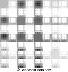 Gray check plaid seamless fabric texture