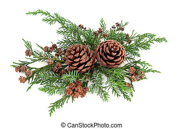 Winter Flora Arrangement - Winter flora arrangement with...