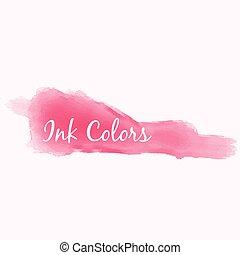 pink ink color splash