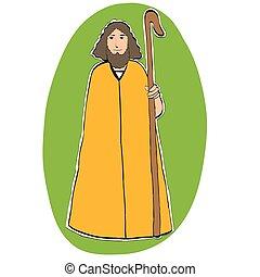 Joseph father of Christ, Christian Christmas character,...