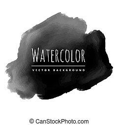 black ink splash