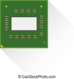Central processing unit CPU concept by Front board