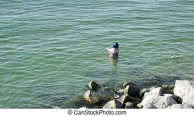 catching fish in the Sea of Galilee