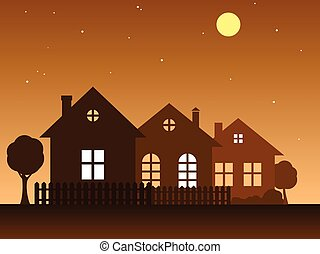 Vector illustration of home.